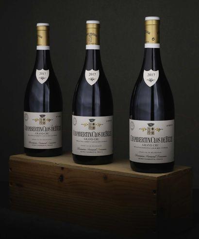 3 bouteilles Chambertin Clos de Bèze Grand...