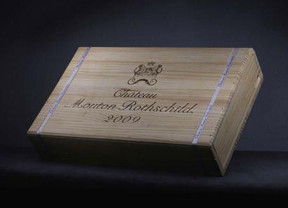 6 bouteilles Château Mouton-Rothschild 2009...