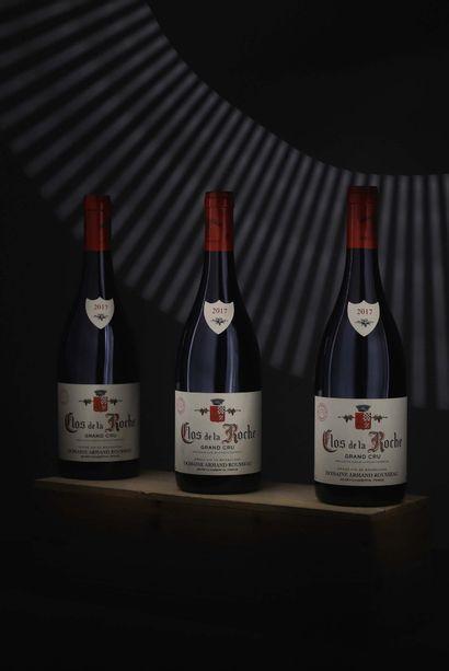 3 bouteilles Clos de la Roche Grand Cru...