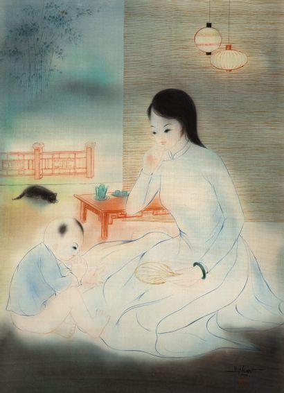 Ecole vietnamienne du XXe siècle  Mère et...