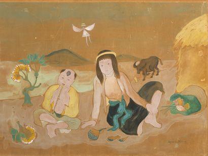 Van Phuong NGUYEN (1930-2006)  Jeune fille...