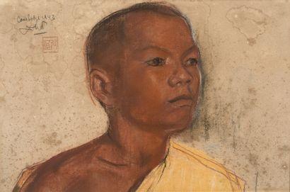Ecole cambodgienne du XXe siècle  Portrait...