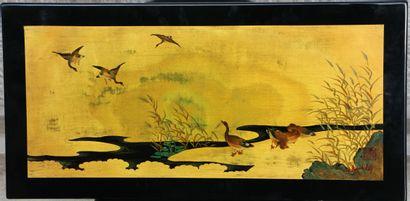 Nguyen THÀNH LÊ (1919-2003) Canards au bord...