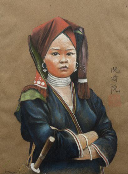 Nguyen Huu DUYET (XXe siècle)  Portrait...