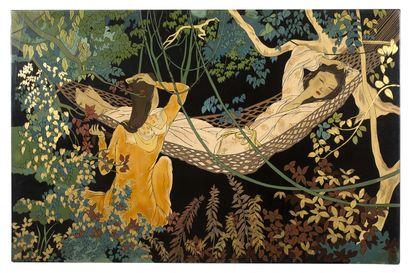 L Ê  THY (1919-?)  Moment de détente sous...