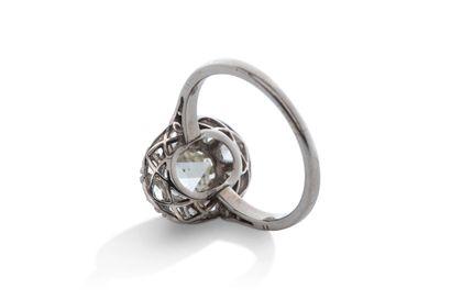 """Bague """"diamants""""  Diamants facettés, taille rose, or 18K (750)  Td.: 51 - Pb.: 3.1gr..."""