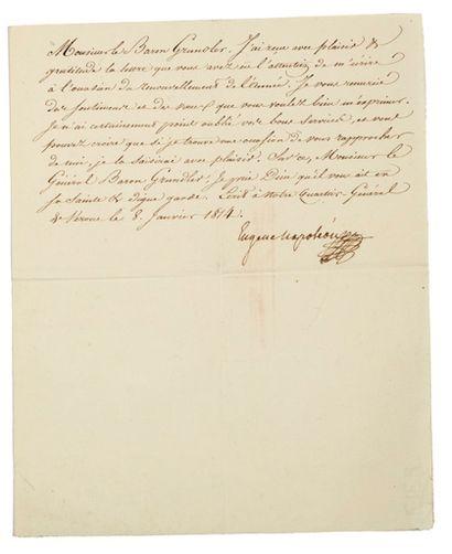 EUGÈNE DE BEAUHARNAIS (1781-1824) fils de l'Impératrice Joséphine, Vice-Roi d'Italie.