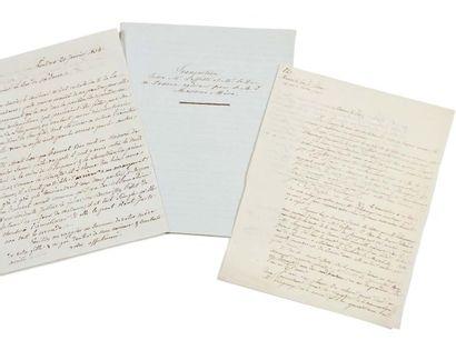 SUCCESSION DE L'EMPEREUR Copie de lettre...