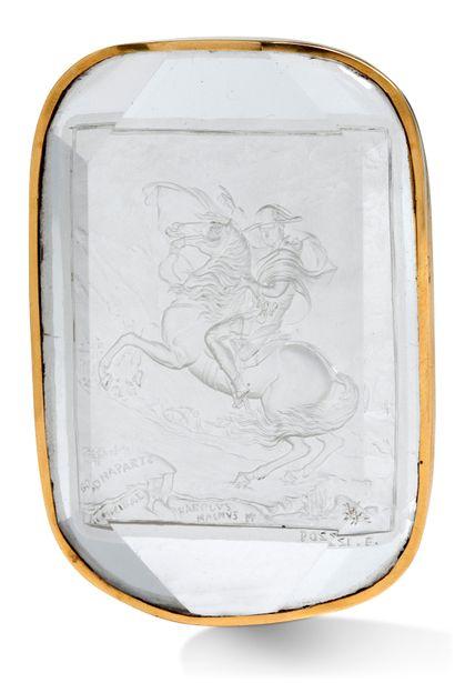 FRANCESCO POZZI 1750-1805, BONAPARTE FRANCHISSANT LE COL DU GRAND SAINT-BERNARD