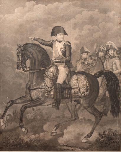 GRAVURE encadrée représentant Napoléon à...