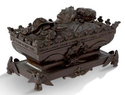 ENCRIER «LE TOMBEAU DE L'EMPEREUR» en bronze...