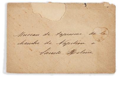 PAPIER PEINT DE LA CHAMBRE DE L'EMPEREUR Fragment de papier peint imprimé de motifs...