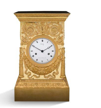 Exceptionnelle pendule signée Bailly, horloger...
