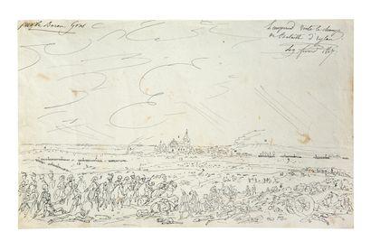 ATTRIBUÉ À HIPPOLYTE LECOMTE PUISEAUX, 1781/1857, PARIS