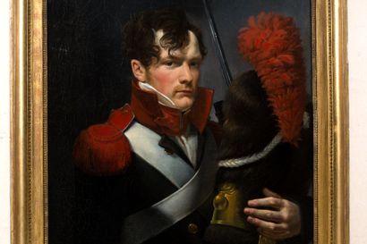 Ecole française du XIXe siècle, vers 1810 Portrait de Grenadier partant au combat...