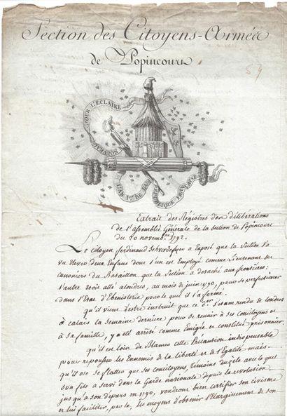SECTION DE POPINCOURT. P.S. par 11 administrateurs...