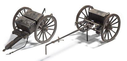 CANON SYSTÈME VALLÉE Bel ensemble composé d'un canon système Vallée accompagné de...
