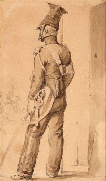ATTRIBUÉ À NICOLAS-TOUSSAINT CHARLET PARIS, 1792/1845