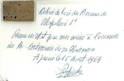 FRAGMENT DU BERCEAU DE NAPOLÉON 1ER Pièce...