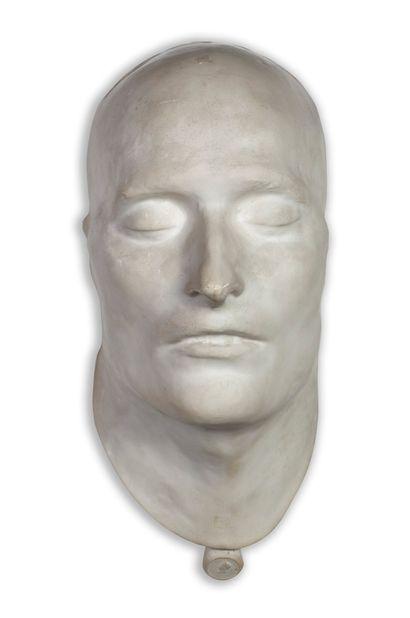 MASQUE MORTUAIRE en plâtre de Napoléon Ier....