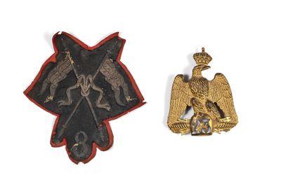 AIGLE DE SHAKO Du 23e régiment d'infanterie....