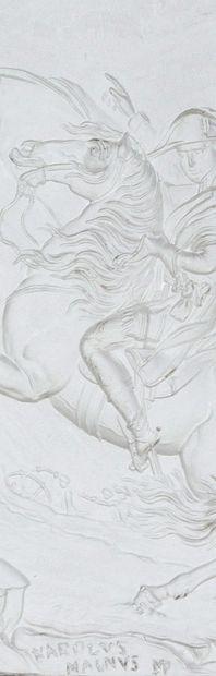 FRANCESCO POZZI 1750-1805, BONAPARTE FRANCHISSANT LE COL DU GRAND SAINT-BERNARD Exceptionnelle...