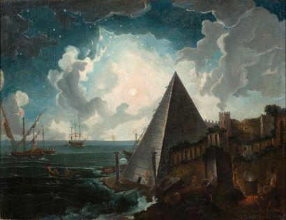 École FRANÇAISE de la fin du XVIIIe siècle Une oeuvre juste et parfaite ou Le chemin...