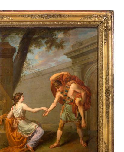 JOSEPH-MARIE VIEN MONTPELLIER, 1716/1809, PARIS Enée et Anchise demandant l'aumône...
