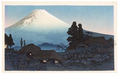 JAPON VERS 1938, «MONT FUJI DEPUIS MIZUKUBO»