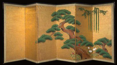 JAPON ÉCOLE KANŌ, XVIIIE SIÈCLE