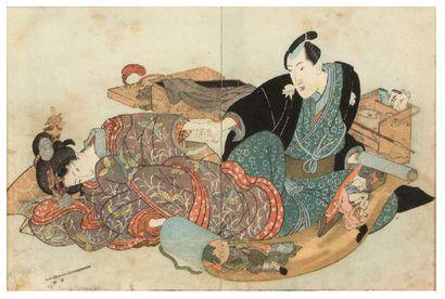 JAPON VERS 1827<br/>KUNISADA (1786-1865)