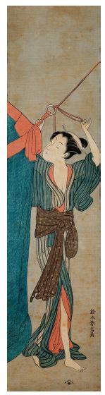 JAPON PÉRIODE MEIJI (1868-1912)<br/>D'après Harunobu (vers 1725-1770)