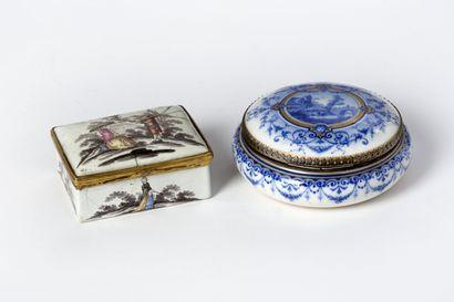 Bonbonnière ronde en porcelaine