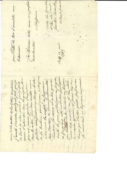 """CHAMFORT SÉBASTIEN ROCH NICOLAS (1740-1794) L.A.S. """"Chamfort de l'Acad. françoise"""",..."""