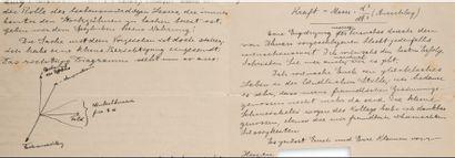 EINSTEIN Albert (1879-1955) L.A., [ca. May 10, 1915], to his friends Wander Johannes...