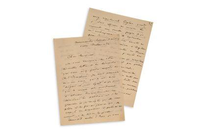 """ROUSSEL Albert (1869-1937) L.A.S. """"Albert Roussel"""", Arromanches 5 août [19]09, to..."""