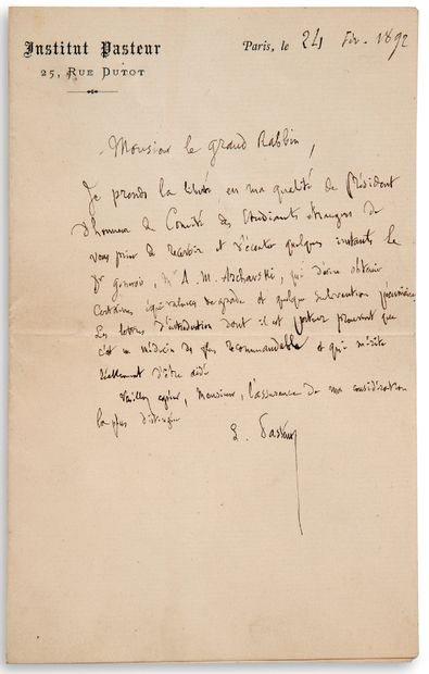 PASTEUR Louis (1822-1895)