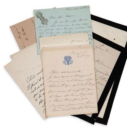 """VIARDOT Pauline (1821-1910) 5 L.A.S. """"Pauline Viardot"""", 1873-1876, to Miss Marie..."""