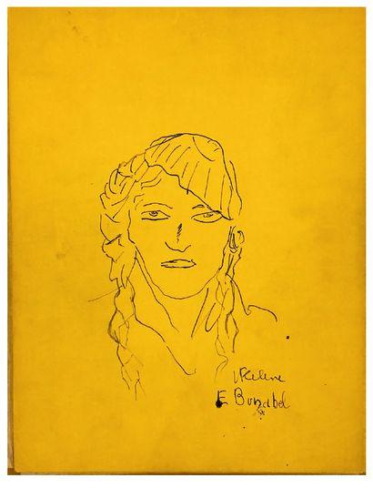CELINE LOUIS-FERDINAND (1894-1961) MANUSCRIPT autograph signed and original DRAWING...