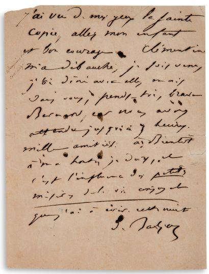 "BALZAC Honoré de (1799-1850) L.A.S ""de Balzac"", [October-December 1839], to Charles..."