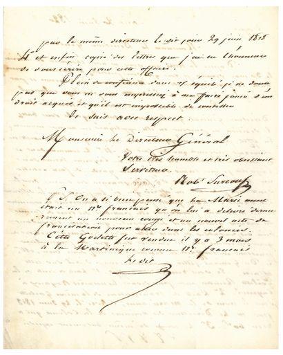 SURCOUF Robert (1773-1827) corsaire