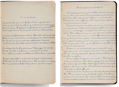 BRETON André (1896-1966) AUTHORIZED MANUSCRIPT of 17 POEMS, [1915-1916]; booklet...