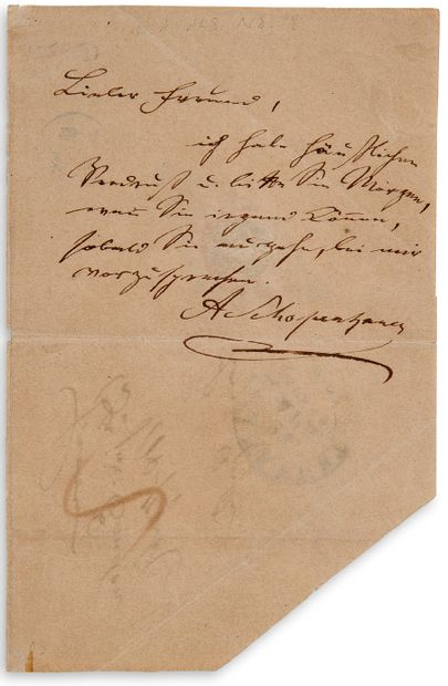 SCHOPENHAUER Arthur (1788-1860)