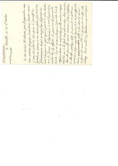 "BOURDALOUE Louis (1632-1704) prédicateur L.A.S. ""Bourdalouë"", Baville 14 October..."