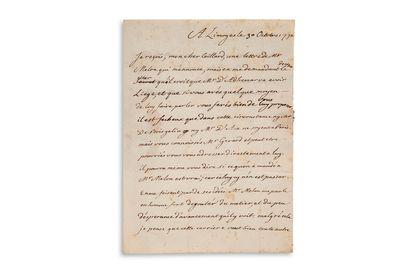 TURGOT Anne Robert Jacques (1727-1781) homme politique et économiste