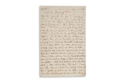 "GOUNOD Charles (1818-1893) L.A.S.""Ch.Gounod"",[1852年4月?"",致伊万-托古埃尼耶夫;2页,8开,维阿多藏书楼干印。..."