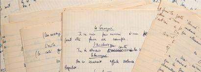 SARTRE Jean-Paul (1905-1980) AUTHORIZED MANUSCRIPT, Diable et Bon Dieu, [1951]; 51...