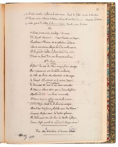 LECONTE DE LISLE, Charles-Marie (1818-1894) MANUSCRIT AUT. SIGNÉ «L'APOLLONIDE»....