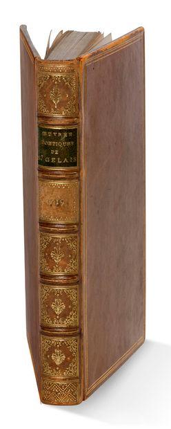 SAINT-GELAIS Mellin de (vers 1491-1558) Oeuvres poétiques de Mellin de S. Gelais....
