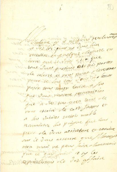 BAVIÈRE. 2 L.A.S. MAXIMILIEN Ier (1573-1651)...